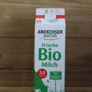 Andechser Natur, Bio Vollmilch, 3,8%, 1L