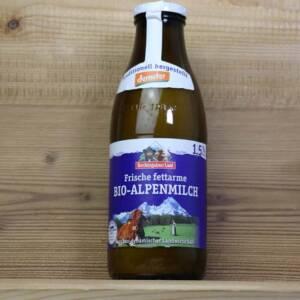 Berchtesgadener Land, Bio-Alpenmilch, 1,5%, 1l Glas