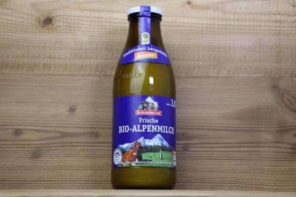 Berchtesgadener Land, Bio-Alpenmilch, 3,8%, 1l Glas