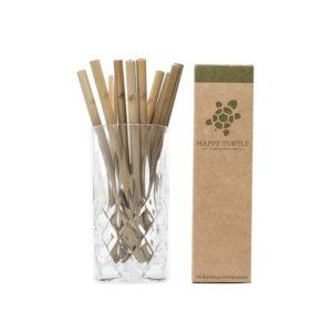 10 Bambus Trinkhalme