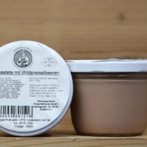 Wildpastete mit Wildpreiselbeeren, fein, 190 g