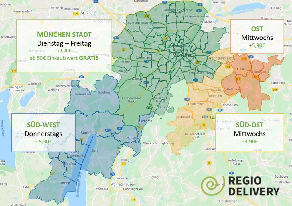 Liefergebiet Regio-Delivery München