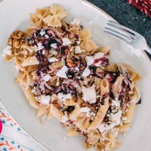 Radicchio Feta Pasta