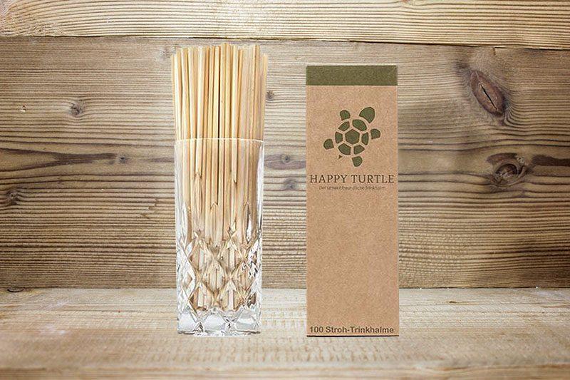 100 Happy Turtle Stroh-Trinkhalme_Happy Turtle