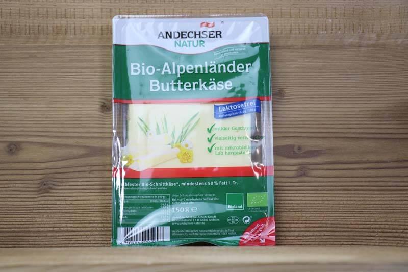 Andechser Natur, Bio-Alpenländer Butterkäse, 150 g