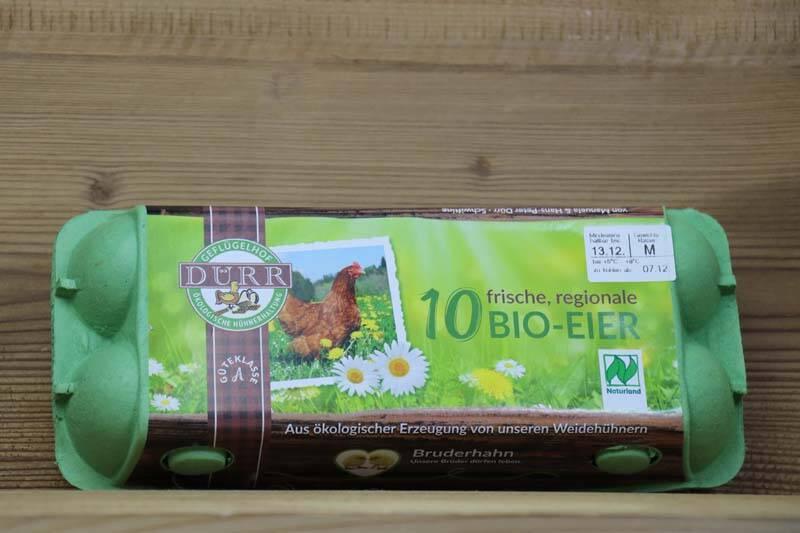 Dürr Geflügelhof, Bio Eier, 10er