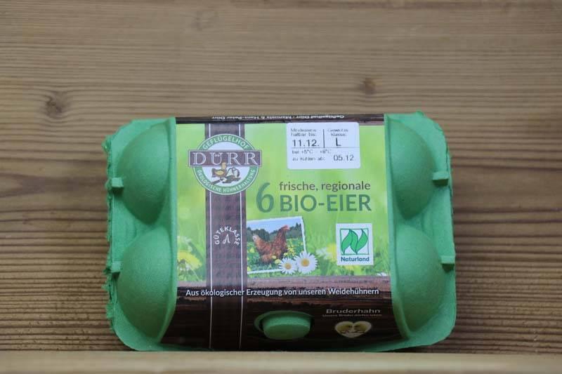Dürr Geflügelhof, Bio Eier, 6er