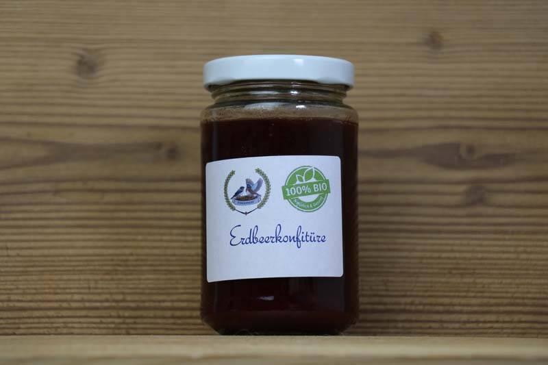 Finkennest, Bio Erdbeer-Konfitüre, 200ml