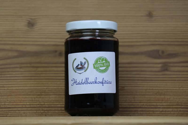 Finkennest, Bio Heidelbeer-Konfitüre, 200g