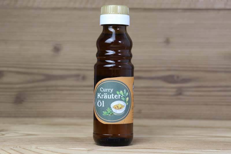 Ölmühle Garting, Curry Kräuteröl, 0,25l