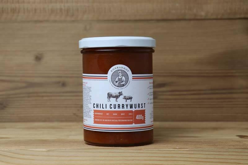 Konradhof, Currywurst mit Naga Bhut Chili, 400 g