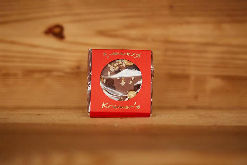 Vollmilch Schokolade Traube  Nuss