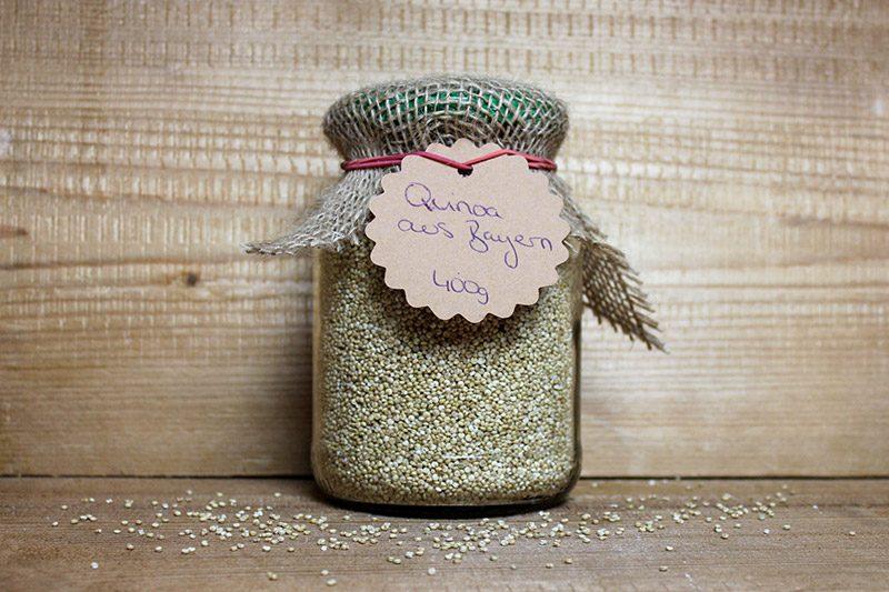 Quinoa aus Bayern Obsthof Knab 400g Glas Zero Waste Mein Regio Korn Pfandglas Pfand