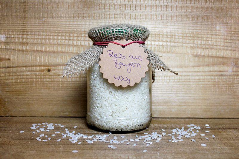 Reis aus Bayern Obsthof Knab 400g Glas Zero Waste Mein Regio Korn Pfandglas Pfand