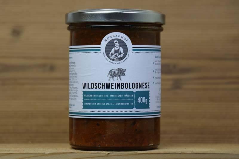Konradhof, Wildschweinbolognese, 400 g