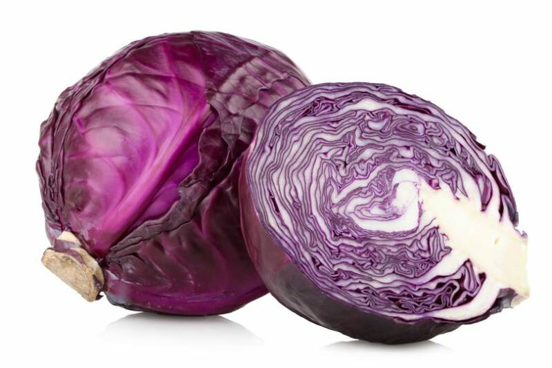 16464613 - red cabbage isolated on white